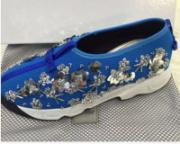 Синие кроссовки Christian Dior Fusion Sneakers Blue 2016 collection